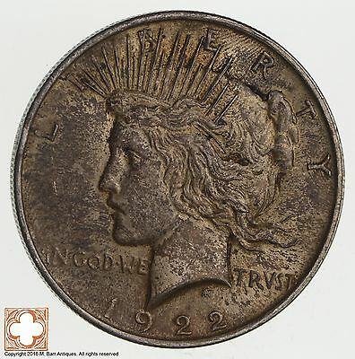 Over 90 Years Old! 1922 Peace Silver Dollar - 90% Silver *576
