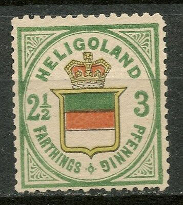 HELIGOLAND 1875-90 3pf (5/8d) MH* STAMP SG12 -CAG 050317