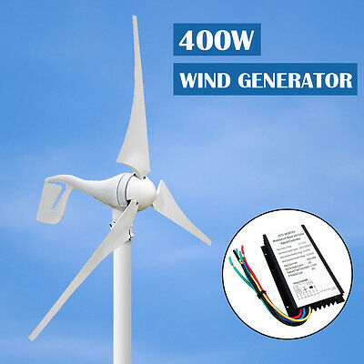 4000W 12V/24V DC Wind Turbine Hybrid Generator & 20A Battery Controller for Home