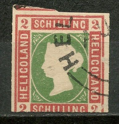 HELIGOLAND 2s Die I USED STAMP IMPERF. -CAG 050317
