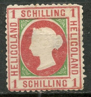 HELIGOLAND 1s Die II MH* STAMP SG8 -CAG 050317