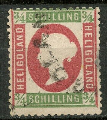 HELIGOLAND 1869-73 3/4s Die I USED STAMP SIGNED! -CAG 050317
