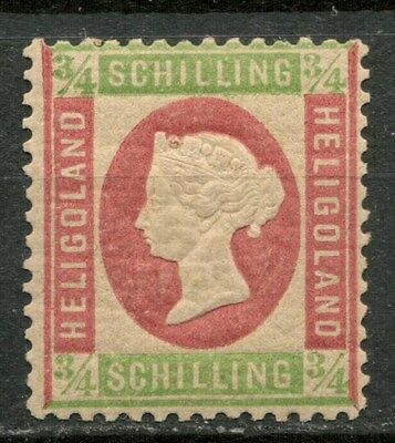 HELIGOLAND 1869-73 3/4s MH* STAMP, NICE GUM-CAG 050317