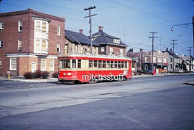 Lehigh Valley Transit Slide; Trolley #954; Hanover & Quebec; Allentown, PA; 1962