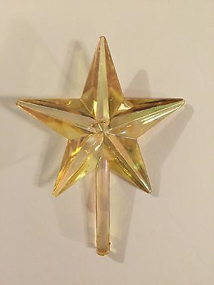 LARGE CLASSIC CHAMPAGNE AURORA STAR TOPPER Vintage Ceramic Christmas Tree Lights