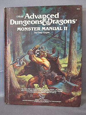 Advanced Dungeons & Dragons MONSTER MANUAL II TSR Games 1983 Hardcover