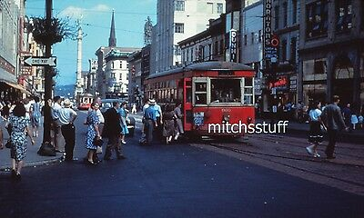 Lehigh Valley Transit Slide - Trolley #960; 8th & Hamilton; Allentown, PA; 1951