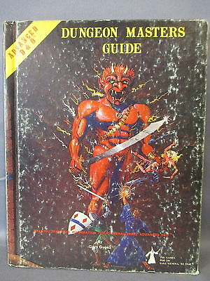 Advanced Dungeons & Dragons MASTERS GUIDE TSR Games 1st Edition 1979 Hardcover