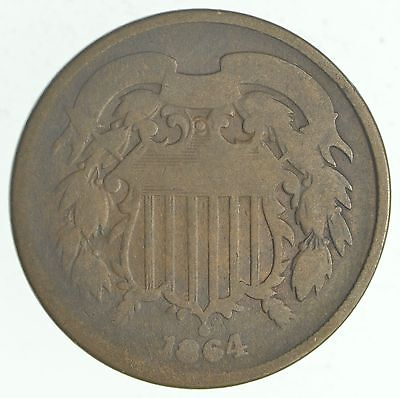 1864 TWO Cent Piece - 1st Year Issue - 1st Appearance of In God We Trust! *760