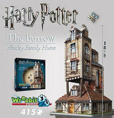 Harry Potter's Burrow: Weasley Family Home. 415 Piece 3D Jigsaw Puzzle Wrebbit