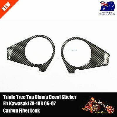 Decal Pad Triple Tree Top Clamp Upper Front End For Kawasaki ZX-10R 2006 - 2007