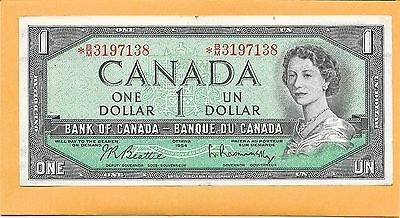 1954* Replacement Note Canadian 1 Dollar Bill *b/m3197138