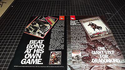 Vintage Top Secret / Forgotten Realms PRINT AD   1987   RARE RPG Role Playing