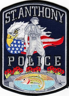 St Anthony Idaho Police Dept Eagle Flag Fish Solider Spd Apd Pd Flowers Id