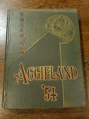 1954 Aggieland Yearbook Texas A & M University College Station Aggies Gigem