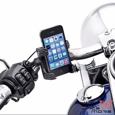 Motorcycle Bicycle Handlebar Phone Carrier Mount Set For Harley Sportster Dyna