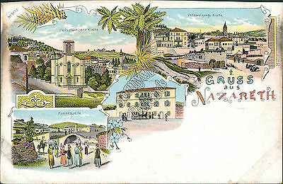 Greetings from Nazareth, Nazareth, Israel - Early 1900's Postcard