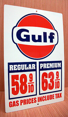 Gulf Gas Price Sign Gasoline Price Sign Vintage Style Chevelle Nova Mustang