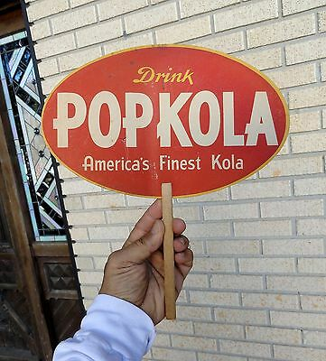 vintage DRINK POP KOLA Soda BOTTLE Go-With ADVERTISING HAND FAN