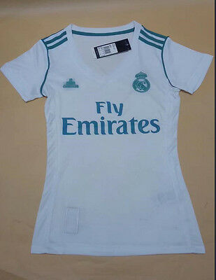 17-18 Real Madrid Home Women Soccer Jersey Short sleeve