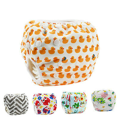 Swim Nappy Diapers Leakproof Reusable Adjustable For Infant Babies Toddler Hot