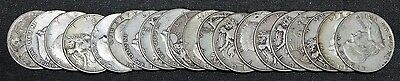 Roll of 20 Silver Half Dollars Circulated 90% Silver