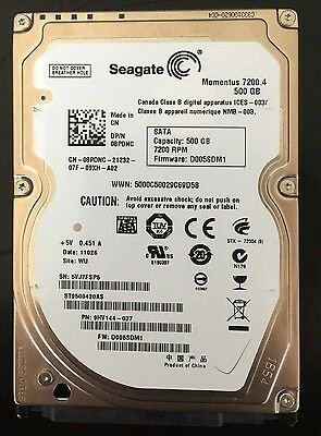 "Seagate 500GB  HDD 2.5""  SATA Hard Drive Notebook Laptop Internal Disk"