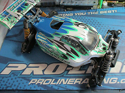 Hot bodies D8 1/8 buggy rolling chassis, upgraded