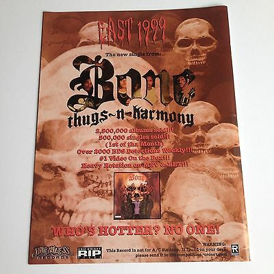 BONE THUGS N HARMONY Original Magazine Advertisement Mini Poster Rare!