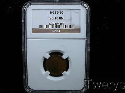 1922-D Lincoln Small Cent Ngc Vg 10 Bn