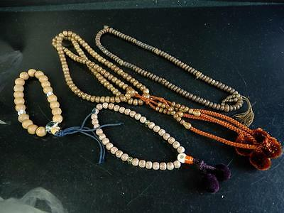 F5351: Japanese Wooden Bamboo BUDDHISM ROSARY,string of beads Bundle sale