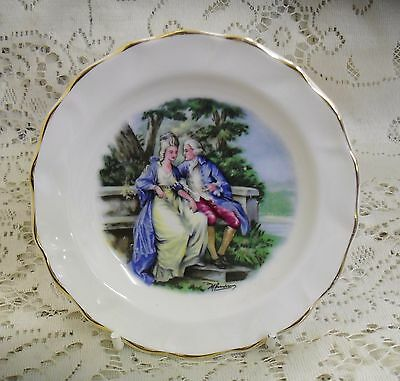 Duchess Courting Couple Miniature Plate Pin Dish Made In England