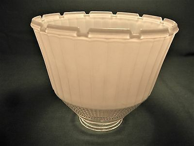Vintage National Home Lamp Council Frosted Glass Light Shade #955 Art Deco