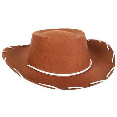 New  Brown Feltex Child Cowboy/cowgirl Hat For Costume/fancy Dress Party