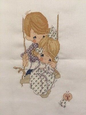 PRECIOUS MOMENTS Finished Completed Cross Stitch Love is Kind, Made in Australia