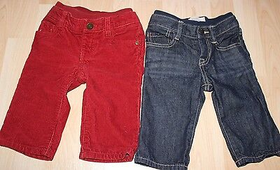 Lot of 2 baby GAP jeans for infant boys size 6-12
