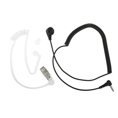 Microphone 3.5mm Jack Listen Only Earpiece for Police Security Mic Headphone