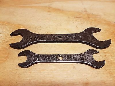 Vintage Spanners Double Open Ended Imperial BAHCO MADE IN SWEDEN
