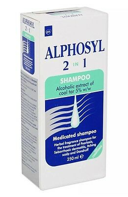 Alphosyl 2-in-1 Medicated Shampoo Itching Scalp And Dandruff Treatment 250ml NEW