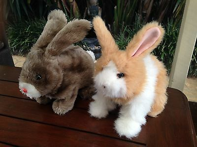 2 Toy Rabbits Both Battery Operated FurReal & Iwaya Great Condition