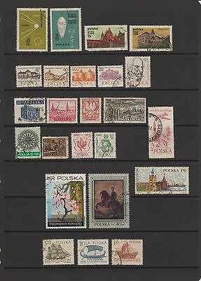 Poland - 24 used stamps  ( Lot 29 )