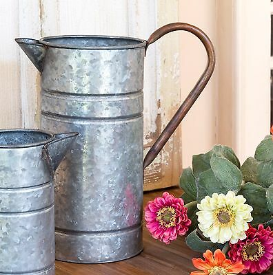LARGE GALVANIZED WATER PITCHER~WATER CAN~Urban Farmhouse Decor