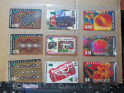 Phone Cards One Hole Punch Phonecards 3 Complete Series wc185