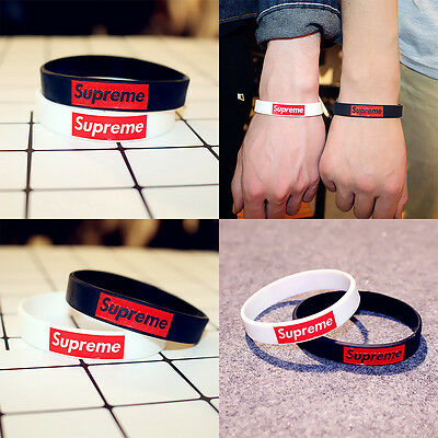 cute lovely wrist band 2pcs Men Fashion casual funky silicone wristband bracelet