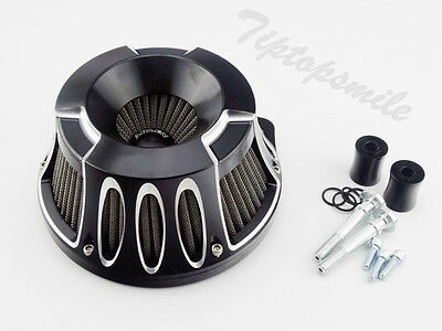 CNC Inverted Air Cleaner Filter A.N. For Harley Dyna Softail Touring Twin Cam