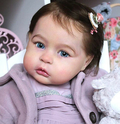 D702 Lovely Reborn Baby Girl Doll Child Friendly H 22 inch Tailor Made