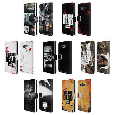 Official Amc The Walking Dead Logo Leather Book Wallet Case For Samsung Phones 2