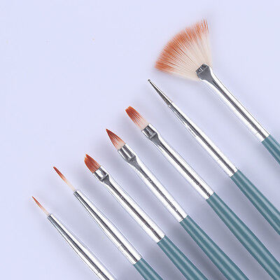 7Pcs Nail Art Acrylic UV Gel Painting Liner Brushes Gradient Dotting Pen Brushes