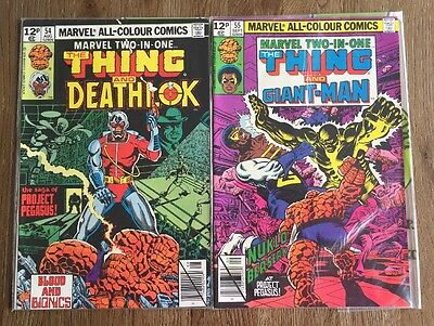 Marvel Two-in-one Bronze Age Comics #54 & #55 Deathlok, Giant-Man, Thing
