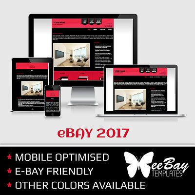 eBay Listing Template HTML Professional Mobile Responsive New Design 2017 *1RA